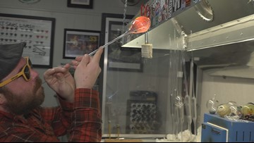 Local glass artist offers glass blowing classes