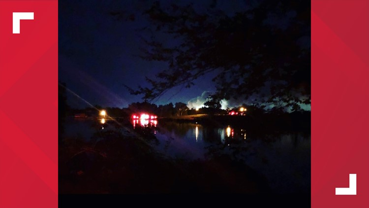 Fire crews at reservoir for Delta fire