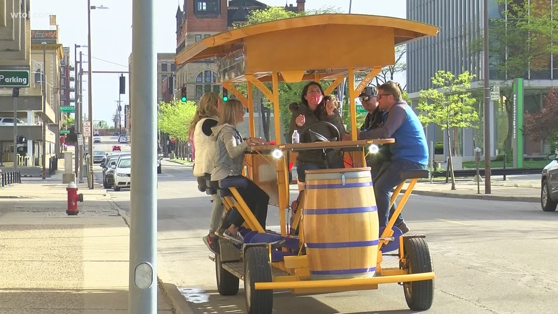 Downtown Toledo's pedal bar busier than ever