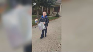 Findlay 7-year-old gets birthday parade after COVID-19 closures cause his party to be canceled