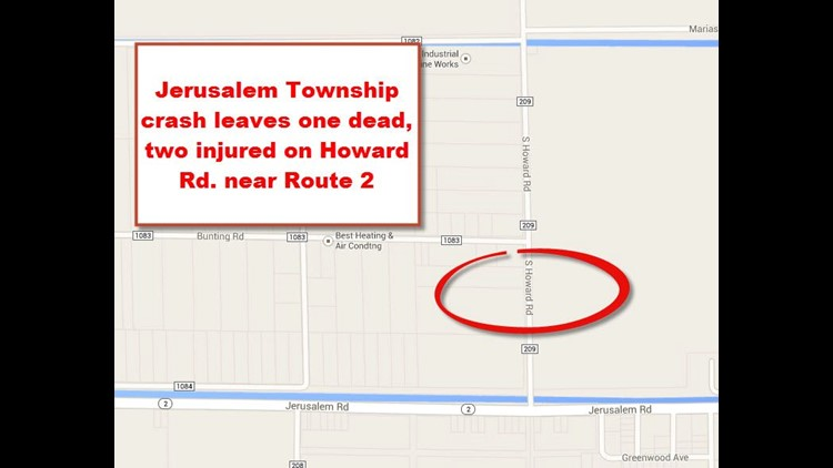 One dead, two injured in Jerusalem Township rollover crash