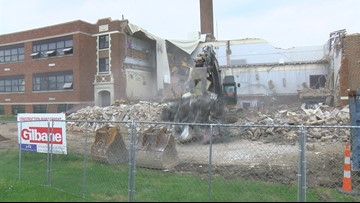Rossford Glenwood Elementary school demolition starts