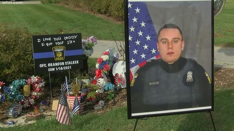 9 months after his death, Ofc. Stalker's family and friends gather to celebrate a milestone in his life