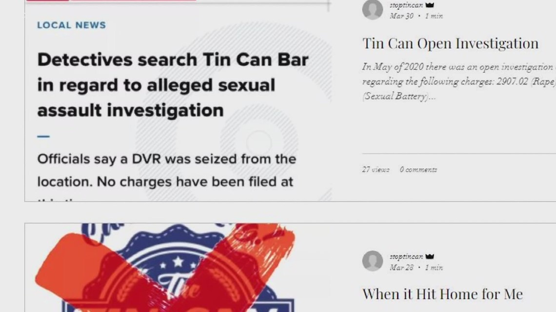 'Tin Can Barred' encouraging people to share stories of alleged 'suspicious incidents' at Toledo bar