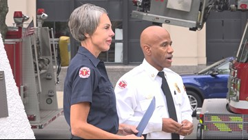 Most senior Toledo firefighter is the first female to receive Badge No. 1