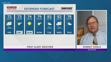 First Alert Forecast: Scattered showers, thunderstorms expected through Friday