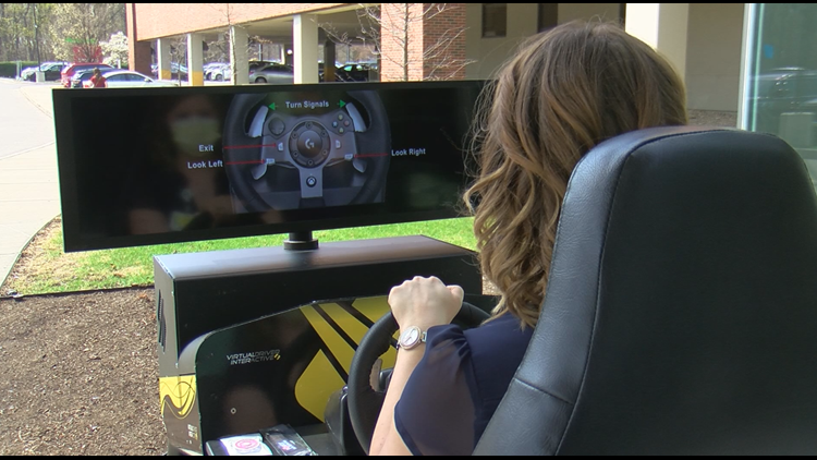 Dangers of distracted driving exposed with interactive simulator