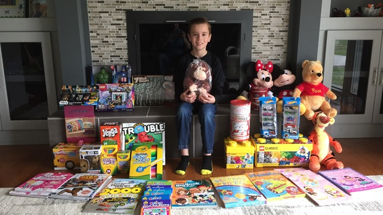The gift of giving: Tecumseh boy donates birthday gifts instead of receiving them