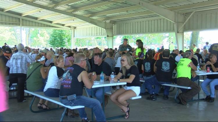 Mass of bikers ride to raise money for women's self-defense at Sierah Joughin fundraiser