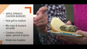 Kroger recipes: Apple Spinach Chicken Burgers