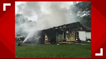 Crews fighting large house fire in Swanton