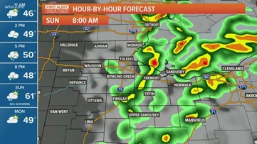 First Alert Forecast: Severe thunderstorm warning issued for multiple counties