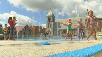 Splash pad opens in downtown Tiffin