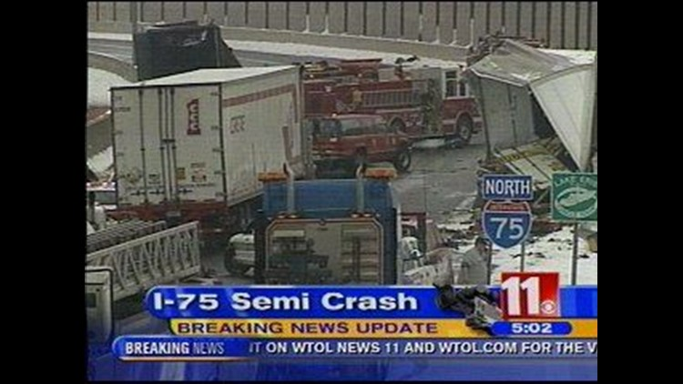 Semi-truck accident closes I-75 for hours | wtol com
