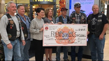 Axemen Motorcycle Club gives $2,000 to Lucas County Children Services after a donation was stolen from the agency