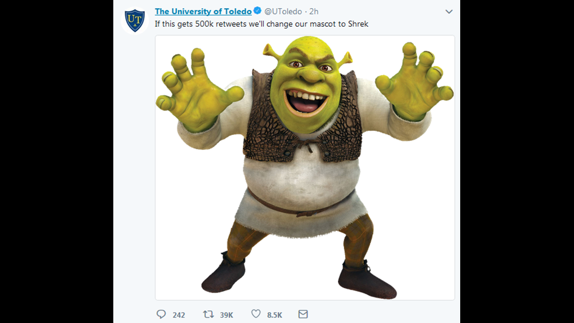 Get Out Of The Swamp Ut Will Not Change Its Mascot To Shrek Wtol Com