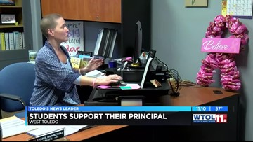 Washington Local students support principal's breast cancer battle