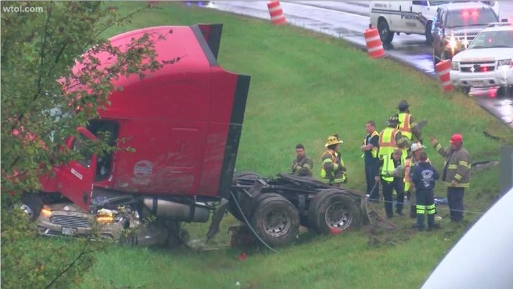 Police identify man killed when semi cab crushed car on I-475/I-75 split