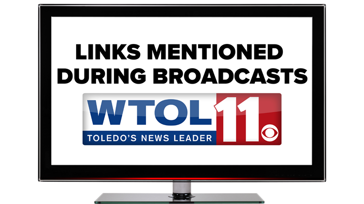 LIST | Links mentioned on air during WTOL 11 broadcasts