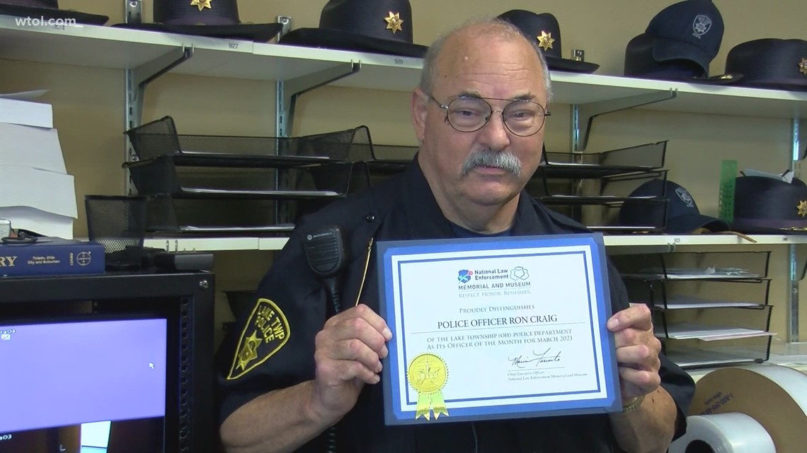 Lake Township police officer receives national award for selfless service during the COVID-19 pandemic