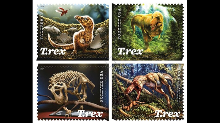 Soon you'll be able to send snail mail with dinosaur and Sesame Street stamps