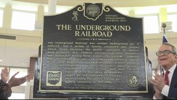 DeWine unveils Underground Railroad markers along Ohio Turnpike