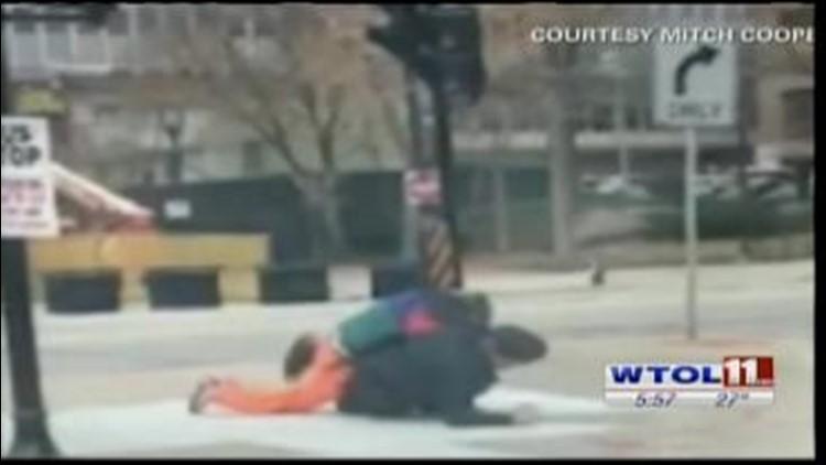 CAUGHT ON TAPE: Clown vs. cop brawl