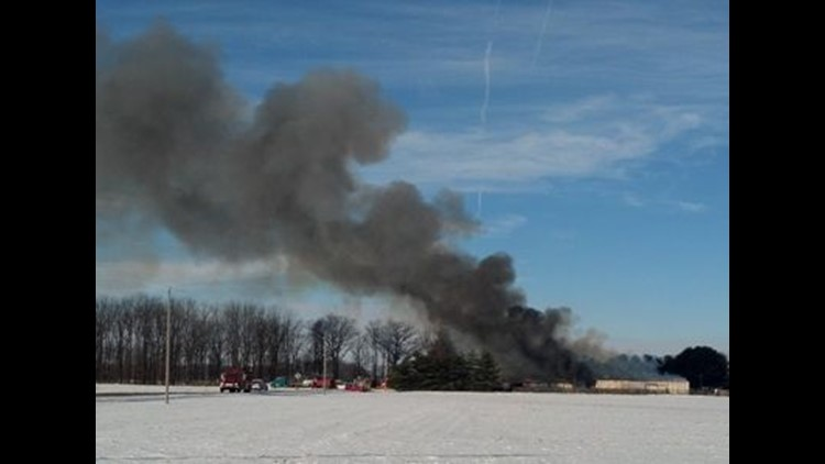 Fire kills four cows in Providence Twp.