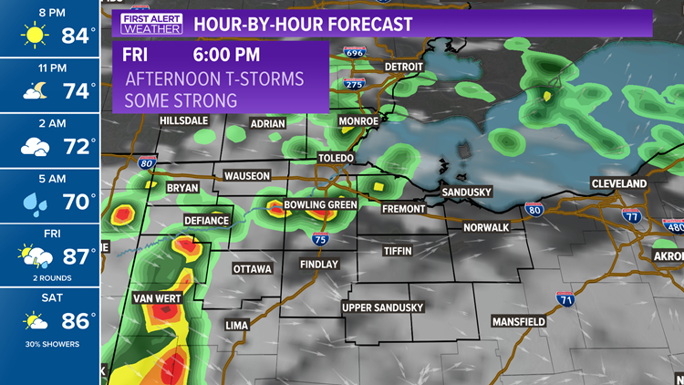 First Alert Forecast | Soaking rain, thunderstorms for tomorrow's First Alert Day