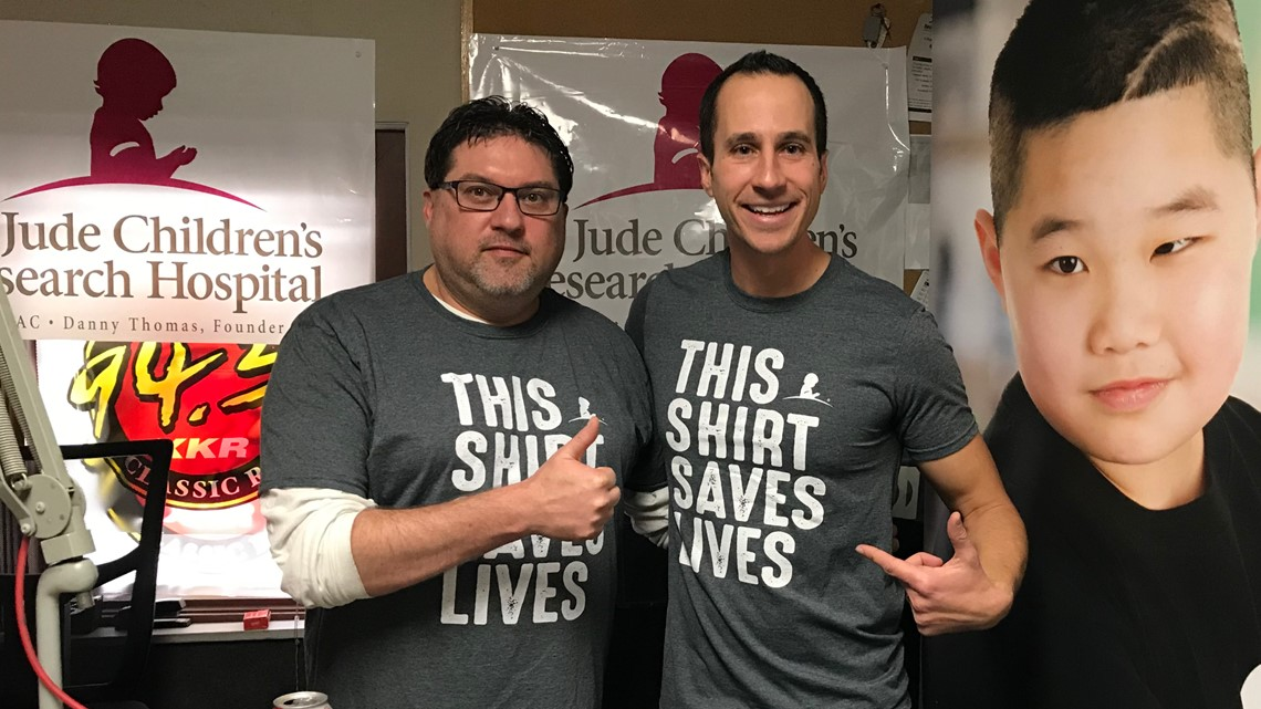 #ThisShirtSavesLives - Chris Vickers and WTOL staff are wearing their hearts on their shirts to help St. Jude