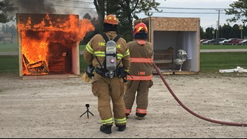 A hands-on lesson: Fire department, experts teach Clay High School students about fire