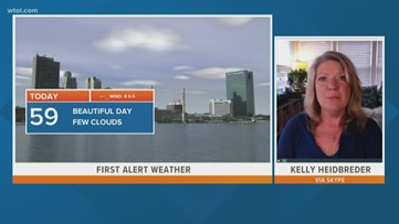 First Alert Forecast: Mostly sunny, slight chance of showers this afternoon