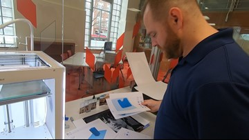 University of Toledo student veteran uses 3D printers to create Toledo replica