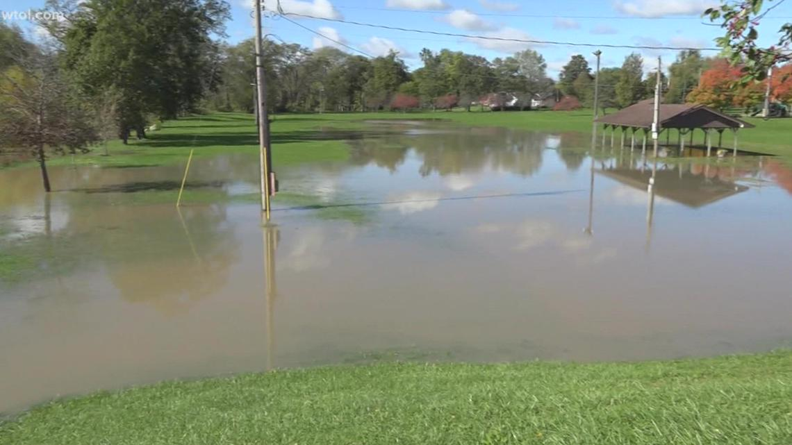Portage River sitting in minor flood stage after heavy rains