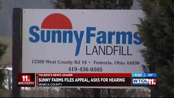 11 Investigates: Sunny Farms Landfill requests hearing on license renewal