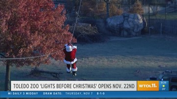 The Toledo Zoo's Lights Before Christmas opens in just 2 weeks