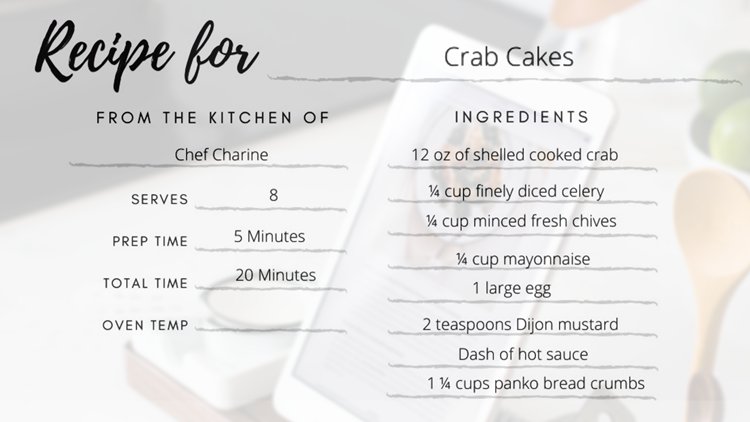 Your Day Recipe | Chef Charine's Crab Cakes