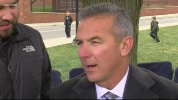 Urban Meyer talks about the rivalry the day before OSU-UM game