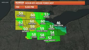 First Alert Forecast: Temperatures near 60° to end the week