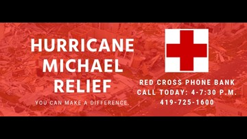 Red Cross phone bank to aid Hurricane Michael relief today
