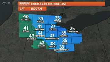 First Alert Forecast: Temperatures in the low 60s for your Friday