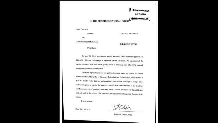 Judgment from Maumee judge