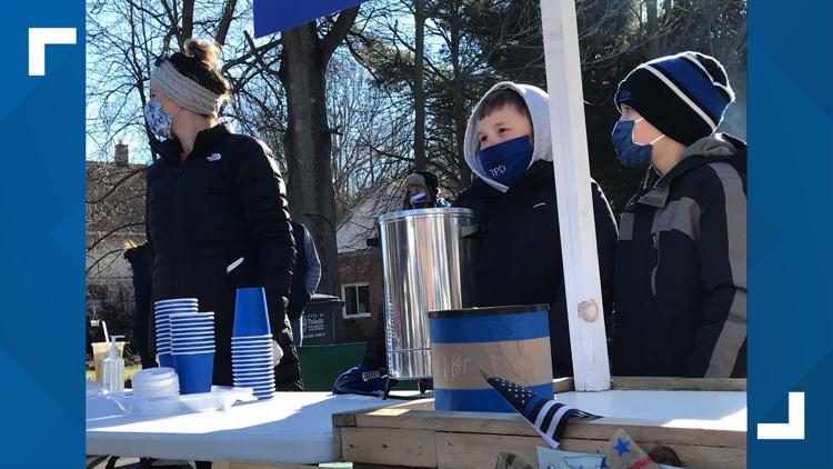 8-year-old's hot cocoa stand raises thousands for family of fallen TPD officer Brandon Stalker