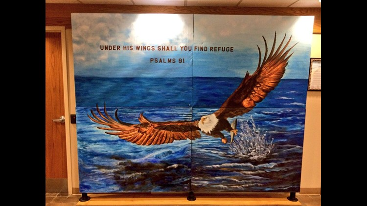 Group wants Christian mural removed from Findlay City Hall