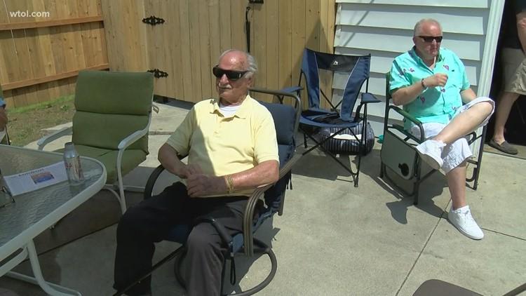 WWII vet, witness to atomic bomb, celebrates 95th birthday.