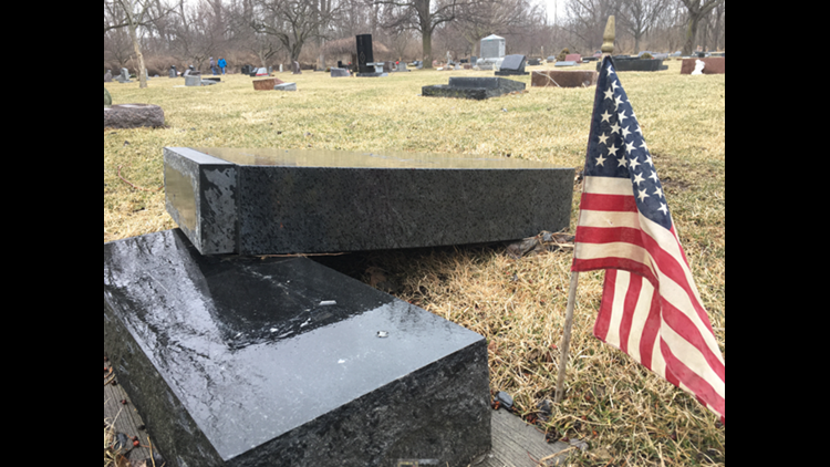 Families relieved city will help after cemetery damage