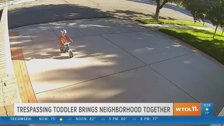 Reason to Smile: Trespassing toddler brings neighborhood together