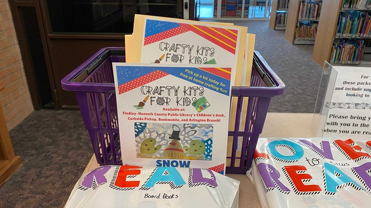 Free craft kits available for kids and adults in Findlay