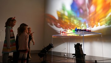 'A Rainbow Like You' light and glass exhibit comes back to TMA