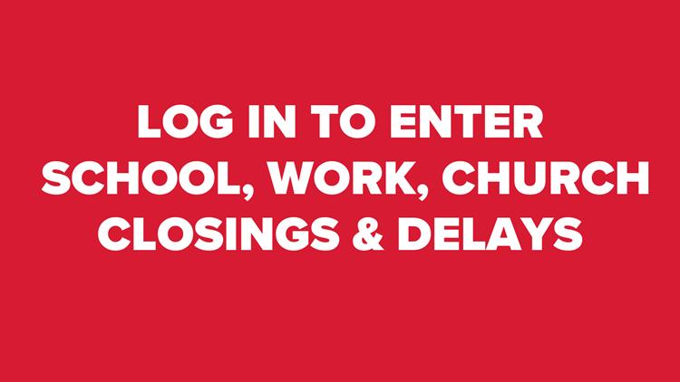 Weather closings/delays administrator log-in